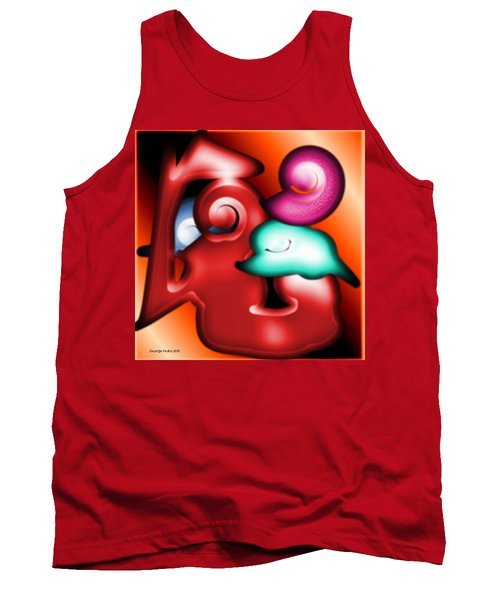 Tank Top featuring the digital art Mother And Child by George Pedro