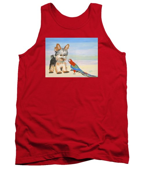 Mouthy Parrot Tank Top