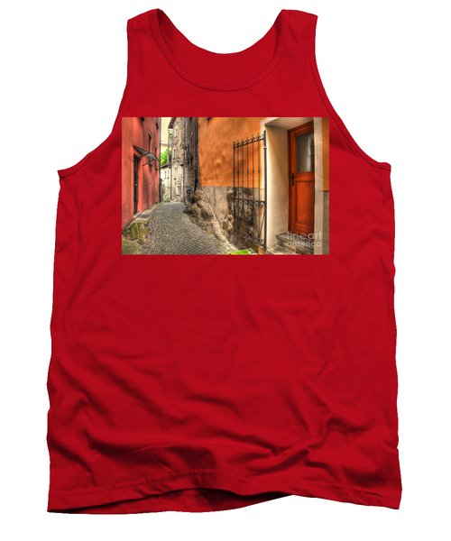 Old Colorful Rustic Alley Tank Top