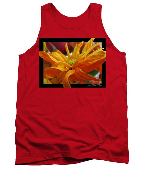 Tank Top featuring the photograph Orange Juice Daisy by Debbie Portwood