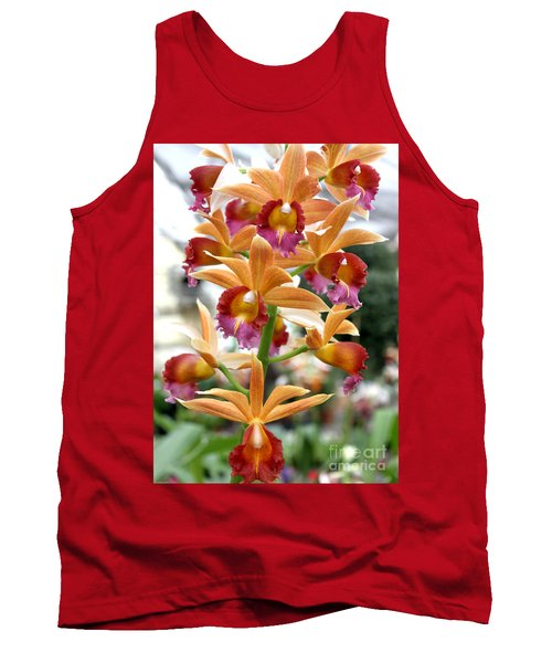 Tank Top featuring the photograph Orange Orchids by Debbie Hart