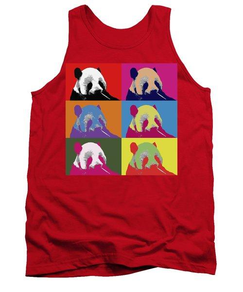 Panda Pop Art 2 Tank Top