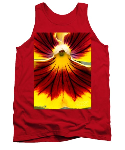 Pansy Named Imperial Gold Princess Tank Top by J McCombie