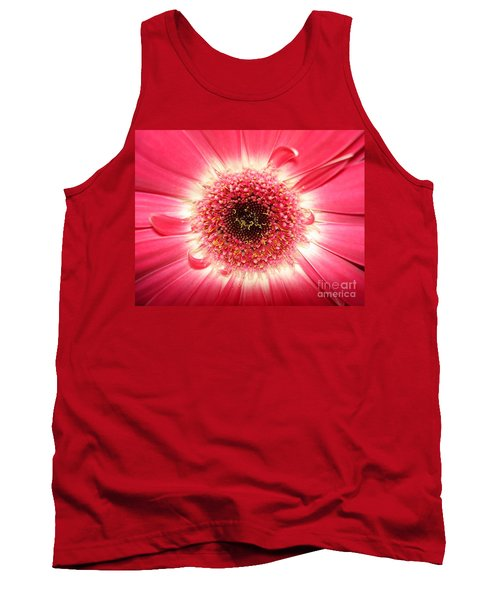 Tank Top featuring the photograph Pink Gerbera Daisy Close-up by Kerri Mortenson