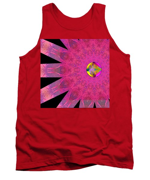 Tank Top featuring the digital art Pink Ribbon Of Hope by Alec Drake