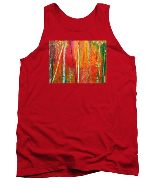 Tank Top featuring the painting Quinacridone Hollow  by Dan Whittemore