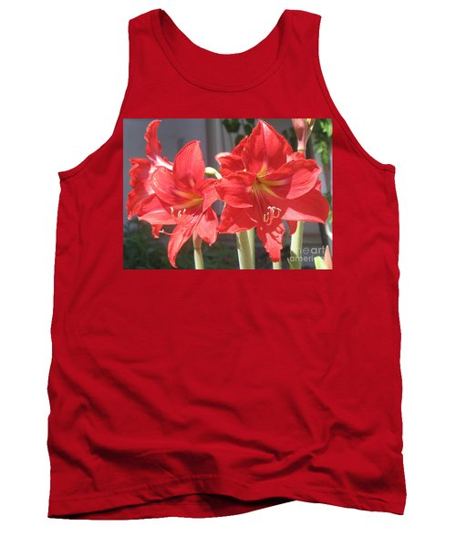 Red Amaryllis Tank Top by Kume Bryant