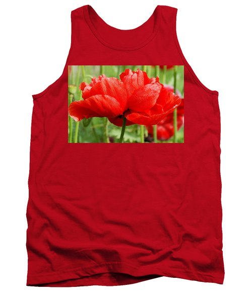 Tank Top featuring the photograph Red And Green by Fotosas Photography