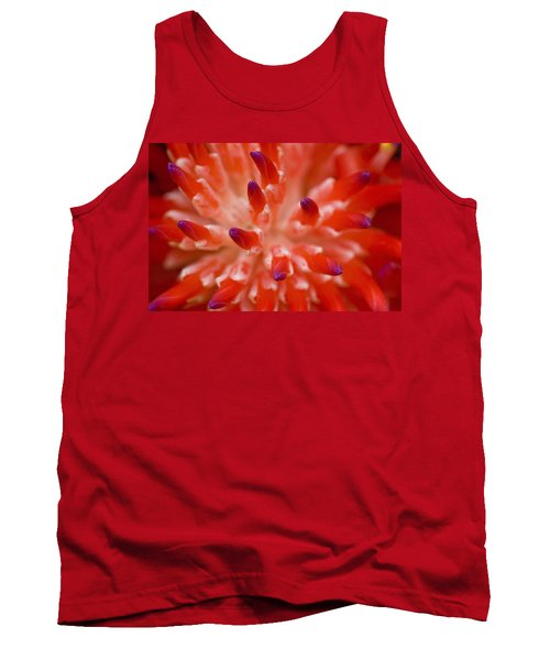 Red Bromeliad Tank Top