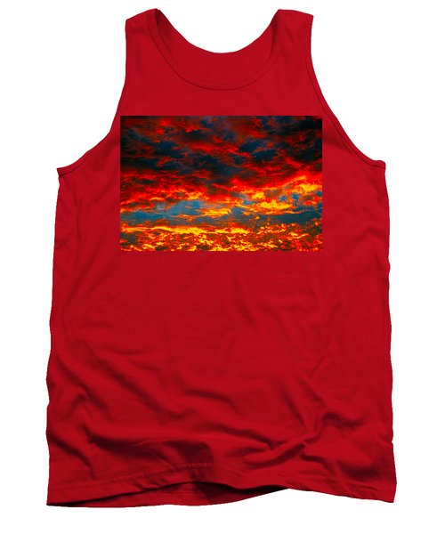 Red Clouds Tank Top
