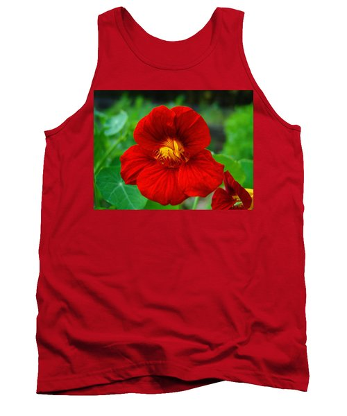 Red Daylily Tank Top by Bill Barber