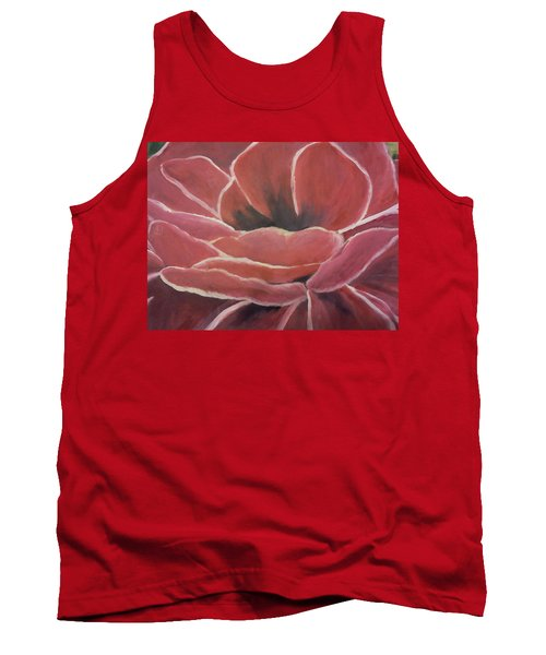 Tank Top featuring the painting Red Flower by Christy Saunders Church