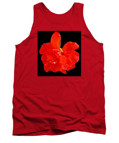 Tank Top featuring the photograph Red Hibiscus by Cindy Manero