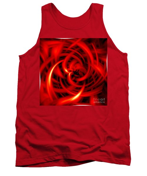 Tank Top featuring the digital art Red Hot by Davandra Cribbie