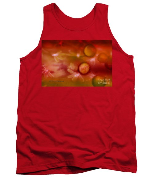 Red Pearl Dragon Fly Tank Top