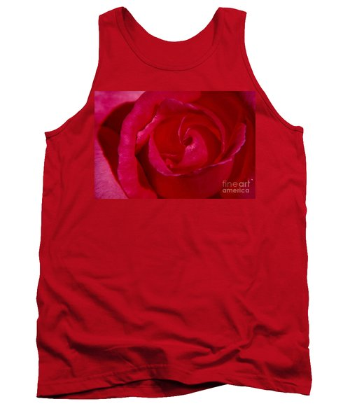 Red Rose Tank Top by Mark Gilman