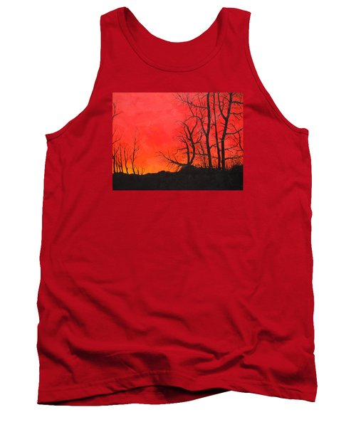 Red Sky  Tank Top by Dan Whittemore