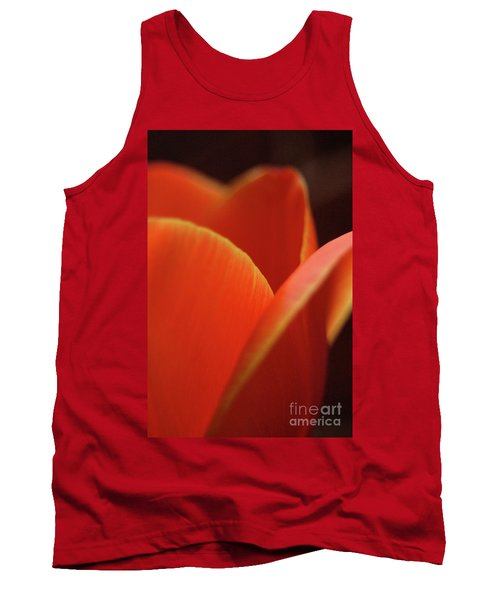 Red Tulip Tank Top by Jeannette Hunt