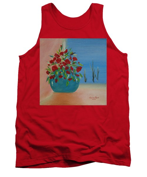 Tank Top featuring the painting Southwestern 1 by Judith Rhue