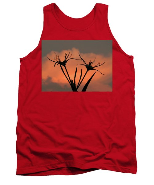 Spider Lilies At Sunset Tank Top
