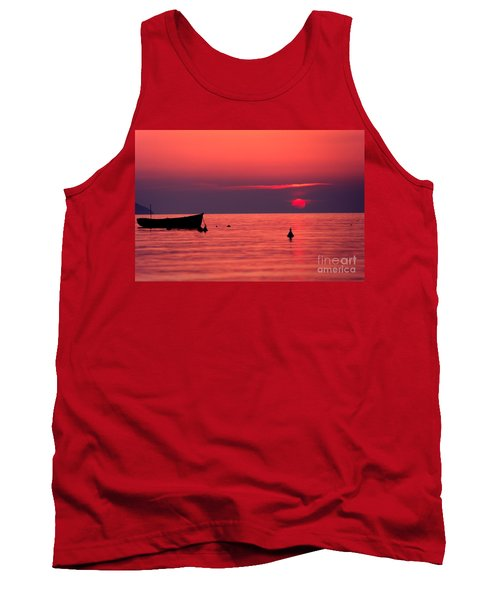 Tank Top featuring the photograph Sunset In Elba Island by Luciano Mortula