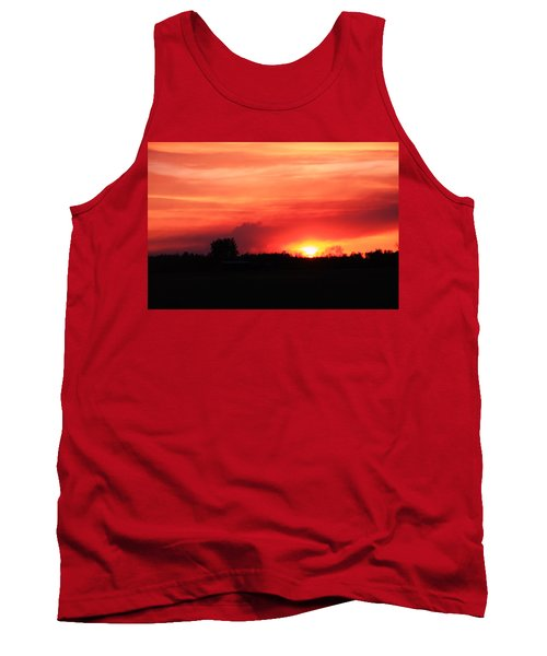 Tank Top featuring the photograph Sunset by Johanna Bruwer