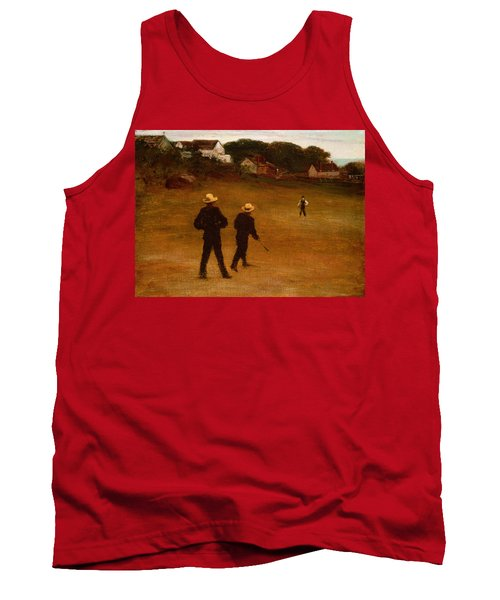 The Ball Players Tank Top by William Morris Hunt