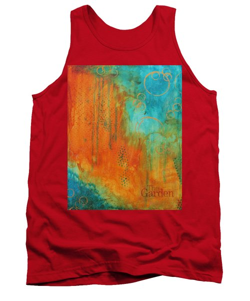 Tank Top featuring the painting The Garden by Nicole Nadeau