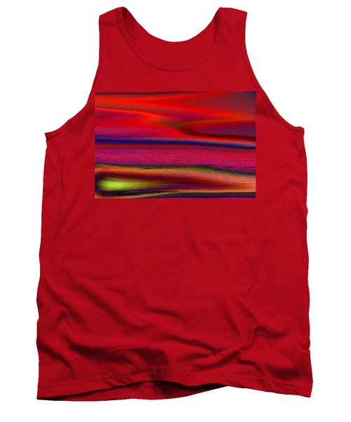 Tank Top featuring the photograph The Lonely Beach by David Pantuso