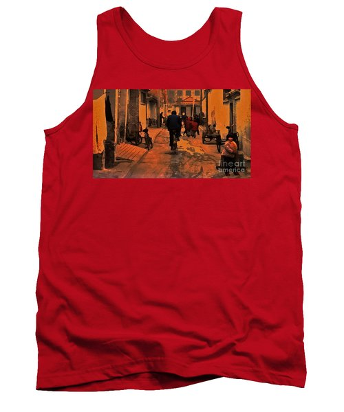 Tank Top featuring the photograph The Neighborhood by Lydia Holly