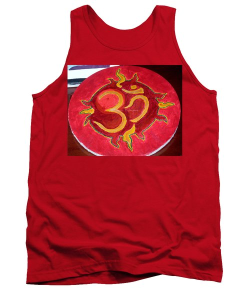 Tank Top featuring the painting The Omnipotent Aumkar by Sonali Gangane