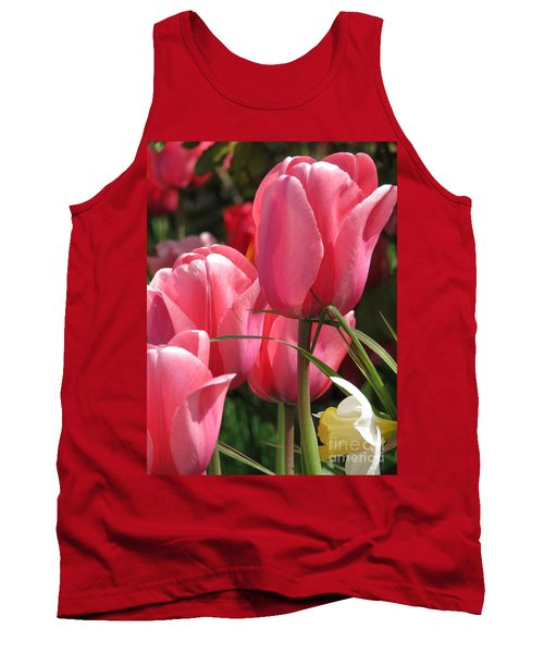 Tank Top featuring the photograph There Is Pink In Heaven by Rory Sagner
