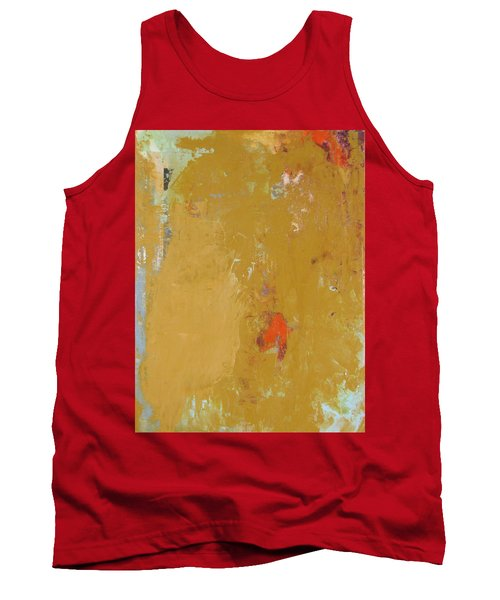 Untitled Abstract - Ochre Cinnabar Tank Top