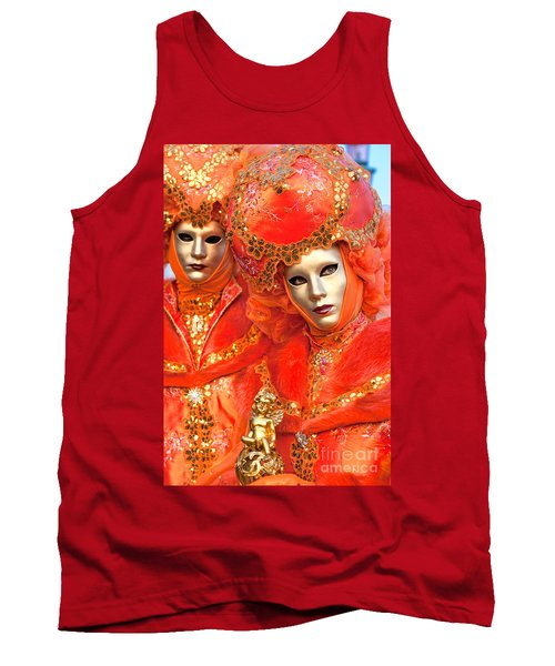 Tank Top featuring the photograph Venice Masks by Luciano Mortula