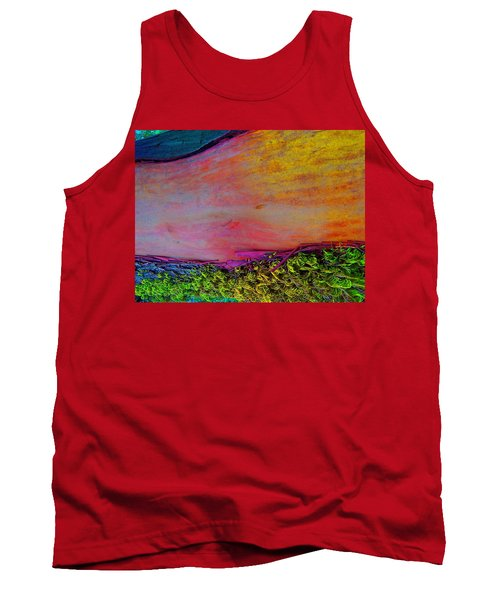 Tank Top featuring the digital art Walk Into The Future by Richard Laeton
