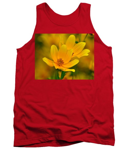 Tank Top featuring the photograph Yellow Blaze by Marty Koch