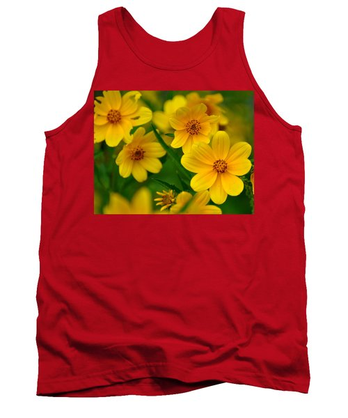 Tank Top featuring the photograph Yellow Flowers by Marty Koch