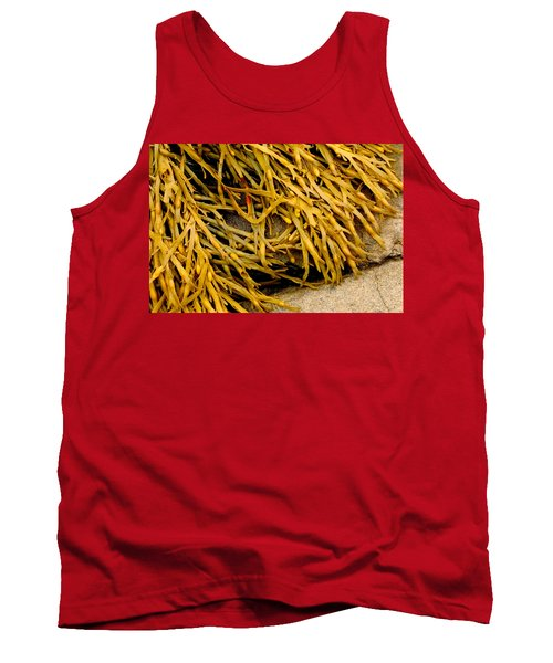 Yellow Kelp Tank Top by Brent L Ander