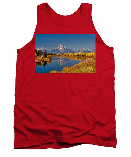 Fall Colors At Oxbow Bend In Grand Teton National Park Tank Top by Sam Antonio Photography