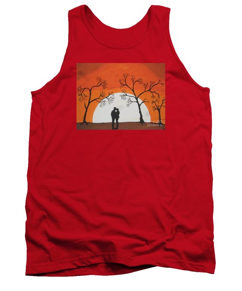 Tank Top featuring the painting  First Kiss by Jeffrey Koss