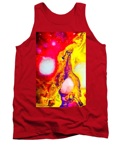 Giraffe In Flames - Abstract Colorful Mixed Media Painting Tank Top