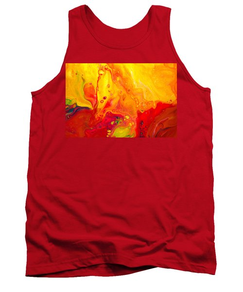 Melancholy - Abstract Warm Mixed Media Painting Tank Top by Modern Art Prints