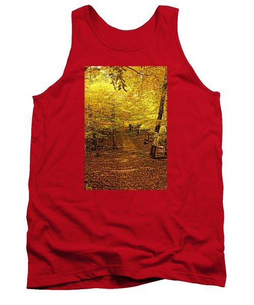 A Walk In The Woods Tank Top by Steven Clipperton