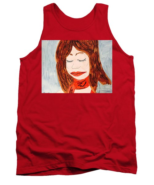 A Young Woman  Tank Top