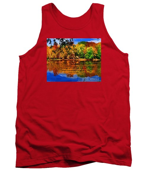 Tank Top featuring the painting Autumn Serenity Painted by Diane E Berry