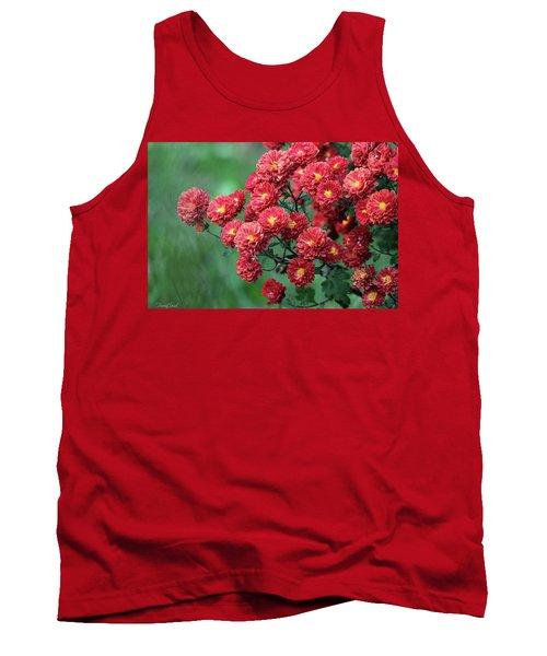 Beautiful Red Mums Tank Top