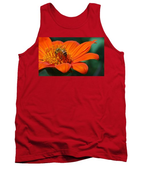 Tank Top featuring the photograph Bee-utiful by Debbie Karnes