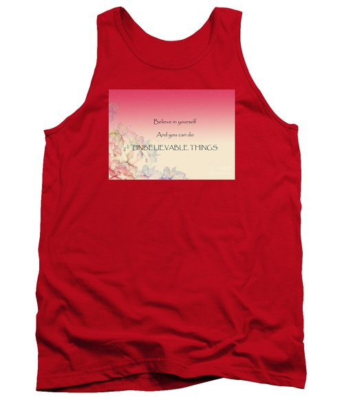 Tank Top featuring the digital art Believe by Trilby Cole