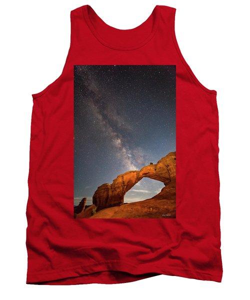 Broken Arch And Milky Way Tank Top