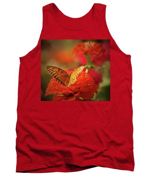 Tank Top featuring the photograph Butterfly And Flower II by Donna G Smith